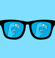 blue glasses vector image vector image