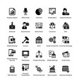business and finance glyph icons set 2 vector image vector image