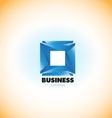 Business corporate blue square logo vector image vector image
