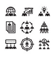business people - icons set teamwork vector image