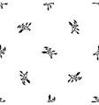 cedar pattern seamless black vector image vector image