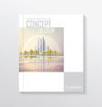 Cityscape document template vector image vector image