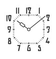 clock face palced on white vector image vector image