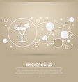 cocktail party martini icon on a brown background vector image