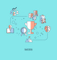 concept business success concept business vector image vector image