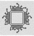 CPU Microprocesso Line icon vector image vector image