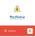 creative money bag logo design flat color logo vector image vector image
