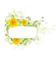 Decorative background with yellow sunflowers vector image vector image