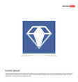 diamond icon - blue photo frame vector image