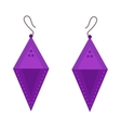 Earrings beautiful accessory isolated vector image vector image