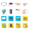 education and learning logo vector image vector image