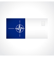 Envelope with flag of NATO card vector image