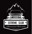 extreme club black mountain rock crawlers promo vector image vector image