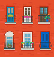 facade house with old-fashioned forged vector image vector image