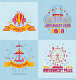 fairground attractions design concept vector image vector image