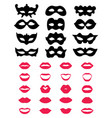 festive masks and lips vector image