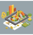 Flat 3d Isometric Business Chart Graphic vector image