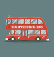 flat red doubledecker vector image