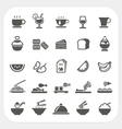 Food and Beverage icons set vector image