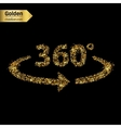 Gold glitter icon of 360 degrees isolated vector image vector image