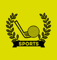 golf sport emblem icon vector image vector image