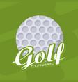 golf sport tournament vector image vector image