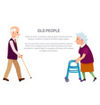 grandparents banner grandpa and grandma isolated vector image vector image