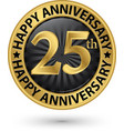 happy 25th years anniversary gold label