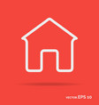 house outline icon white color vector image vector image
