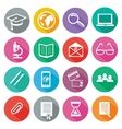 Icon set for professional training and elearning vector image