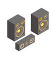 isometric speakers vector image