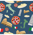 Italian seamless pattern Background of the symbols vector image vector image