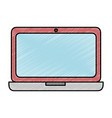 laptop computer isolated icon vector image vector image