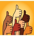 Like and Thumbs Up symbol Abstract background vector image vector image