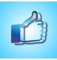 Like symbol on blue background vector image