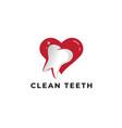 love clean teeth logo icon vector image vector image