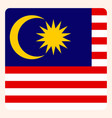 malaysia square flag button social media vector image