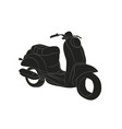 moped stands drawing silhouette vector image vector image