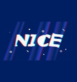 nice in design banner template for web vector image vector image