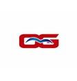 OG letter logo vector image vector image