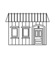 One storey house with two windows icon vector image vector image