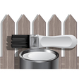 painting fence vector image vector image