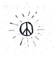 Peace symbol pacific sign vector image