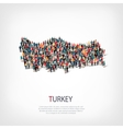 people map country Turkey vector image