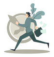 person in business suit running late for work vector image vector image