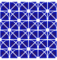 porcelain pattern blue and white vector image vector image