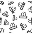 rent house seamless pattern business concept rent vector image