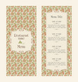 restaurant menu design template - retro style vector image