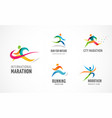 run icon symbol running marathon poster and logo vector image vector image