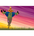 scarecrow background 2 vector image vector image